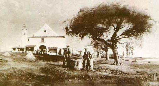 Foto de la antigua ermita Virgen del Rocío