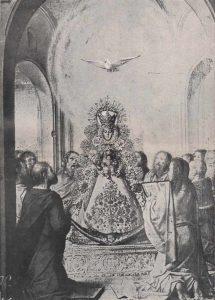 La-Virgen-del-Rocio-y-los-Apostoles-en-la-Venida-del-Espiritu-Santo-Idea-y-composicion-de-Juan-Infante-Galan-1971