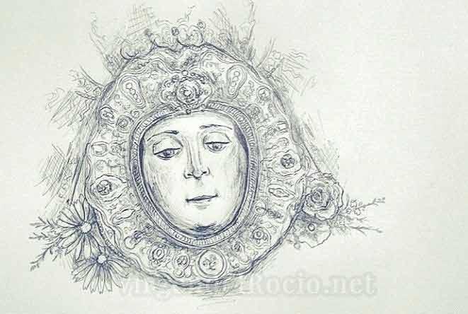 dibujo-Virgen-del-Rocio-de-Angel-Muñoz