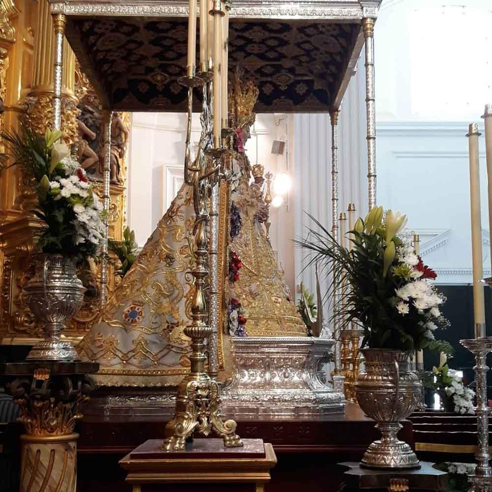 Andas Virgen del Rocio lateral
