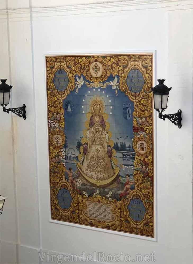 Azulejo iglesia Almonte Virgen del Rocío