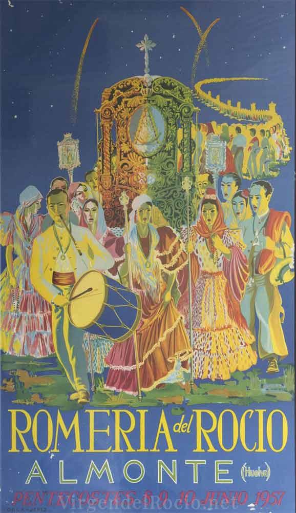 Cartel-Virgen-del-rocio-año-1957