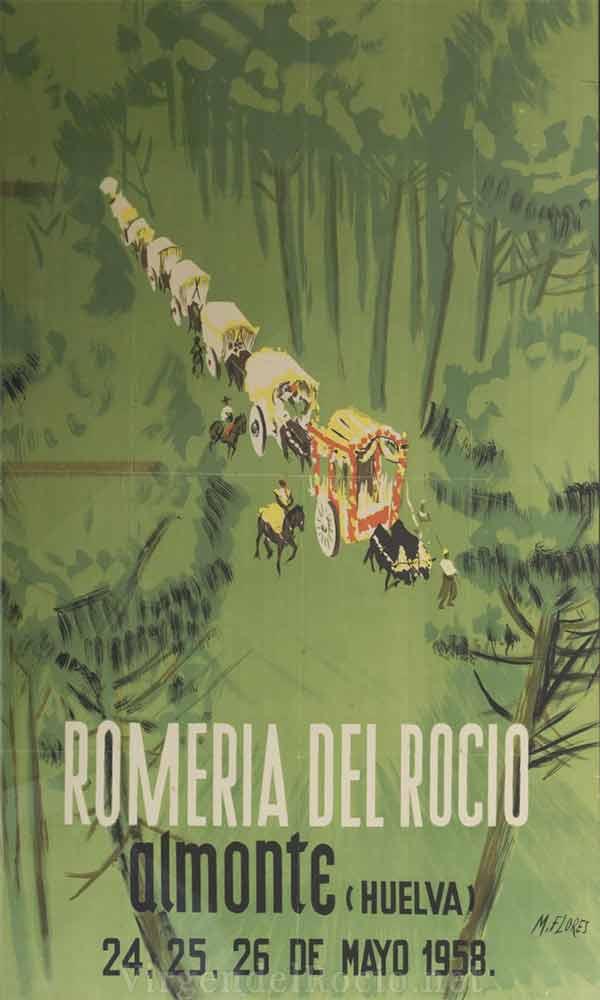 Cartel-Virgen-del-rocio-año-1958