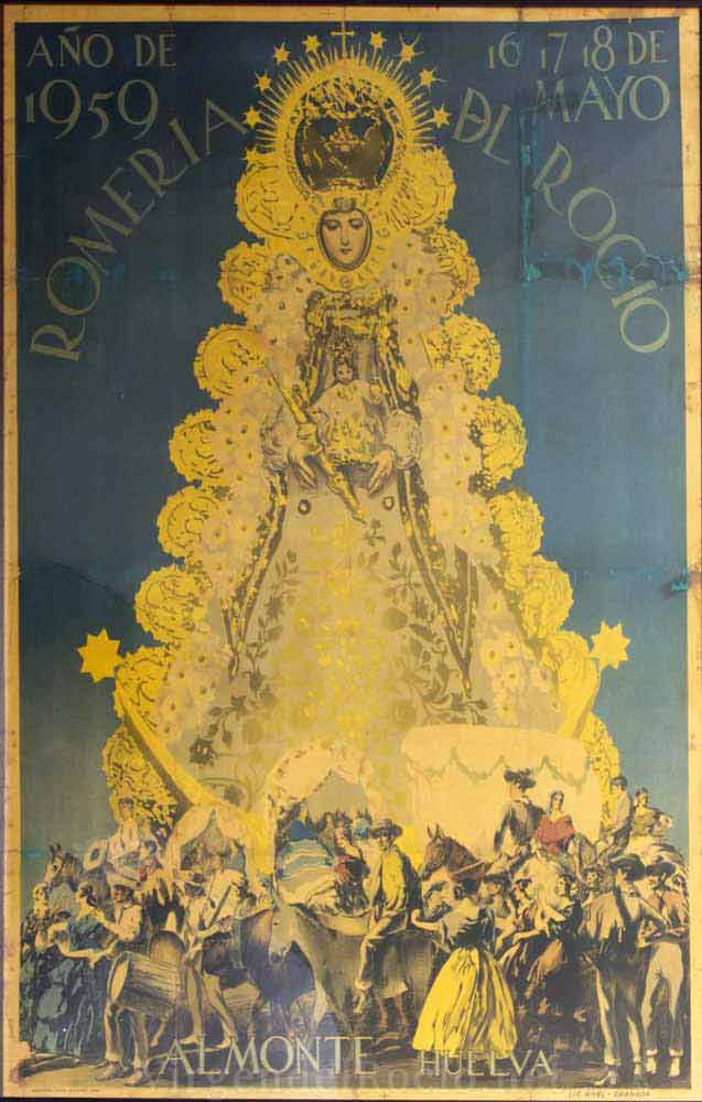 Cartel-Virgen-del-rocio-año-1959