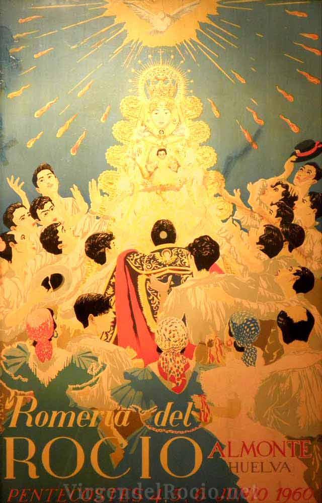 Cartel-Virgen-del-rocio-año-1960