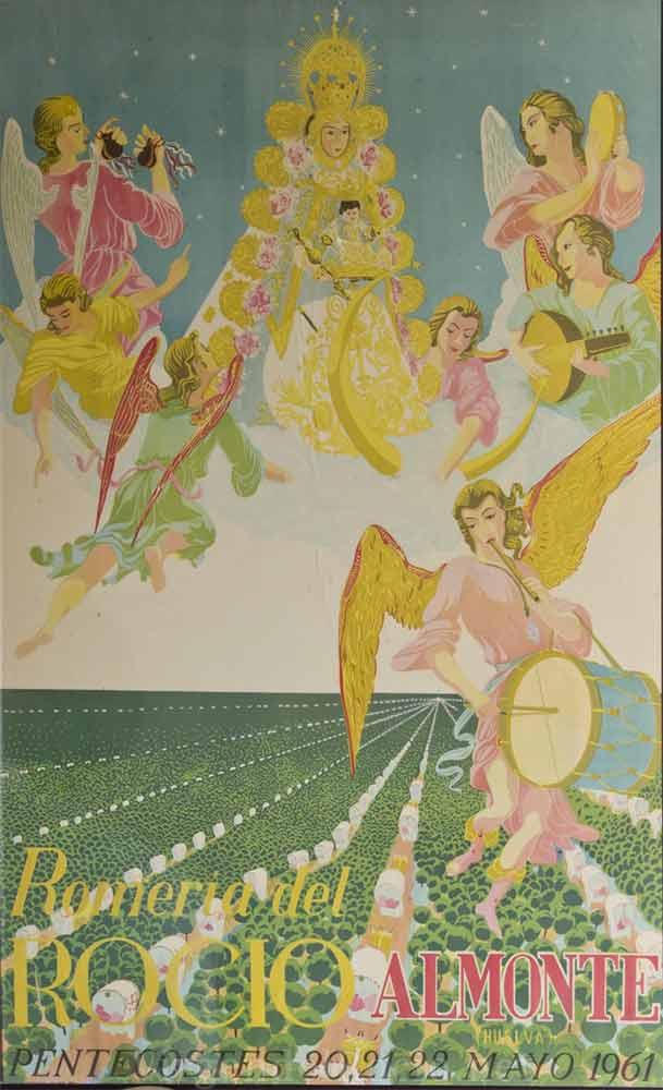Cartel-Virgen-del-rocio-año-1961