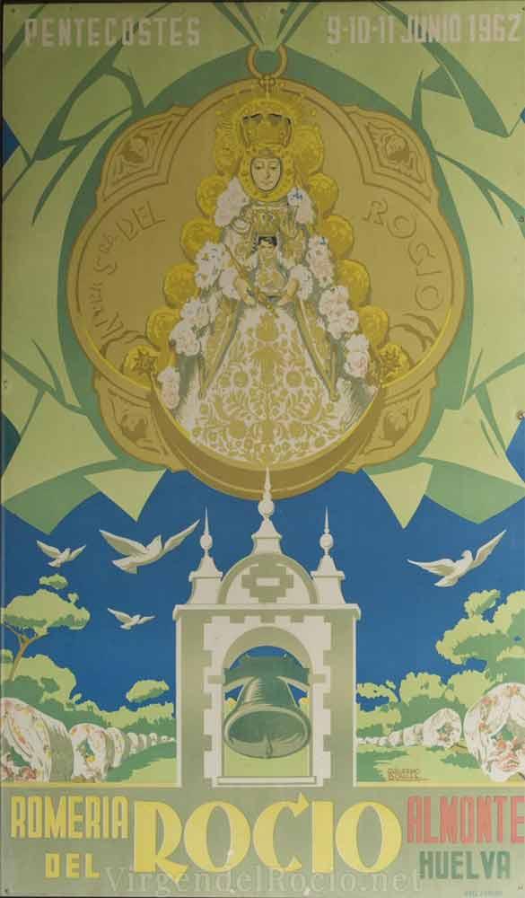 Cartel-Virgen-del-rocio-año-1962