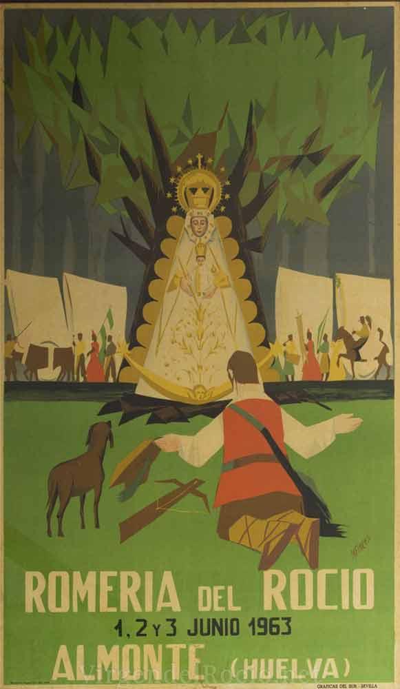 Cartel-Virgen-del-rocio-año-1963