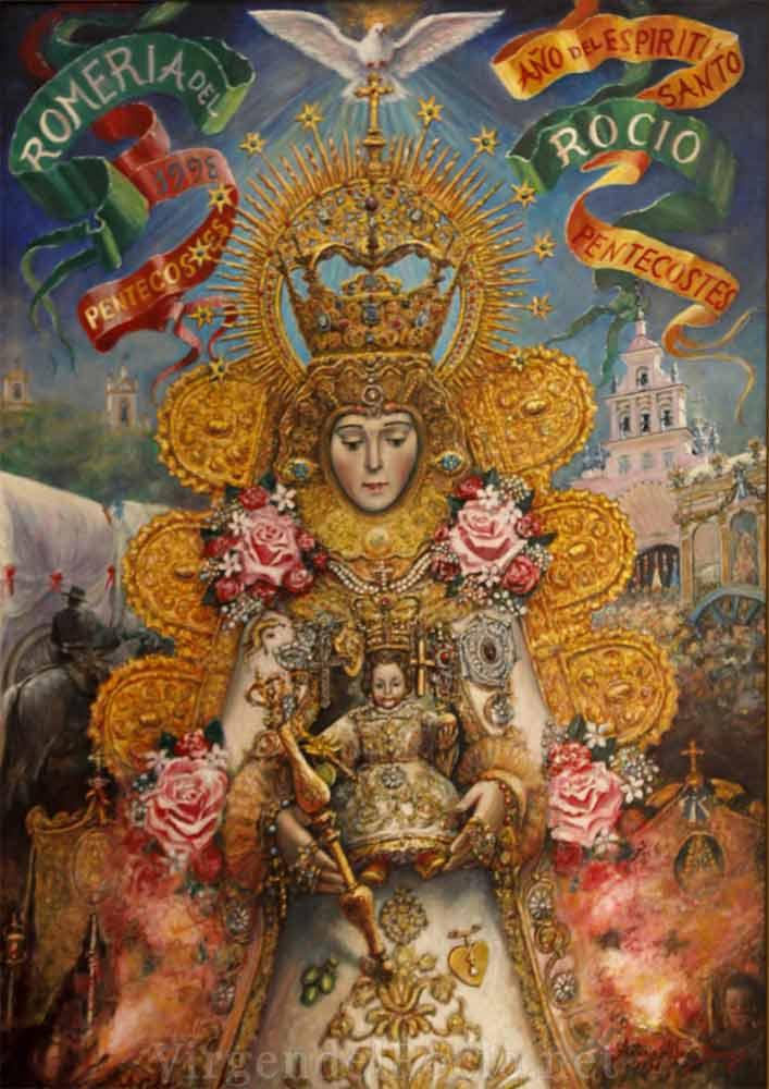 Cartel-Virgen-del-rocio-año-1998