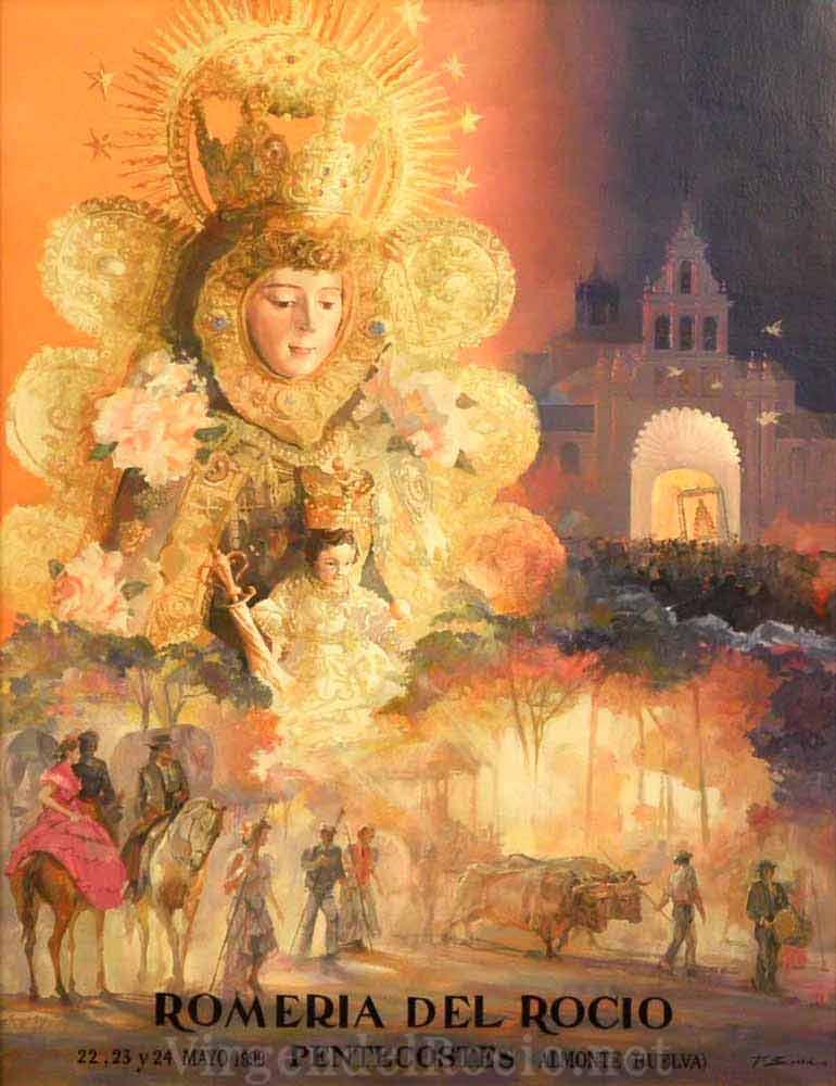 Cartel-Virgen-del-rocio-año-1999