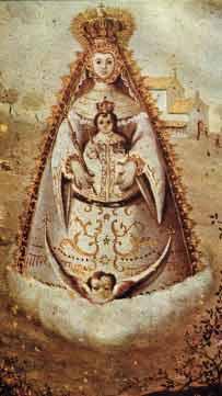 Grabado de la Virgen del Rocio