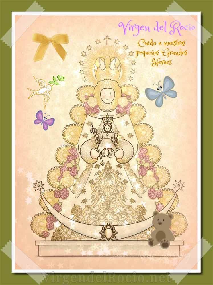 Dibujo Virgen del Rocío infantil