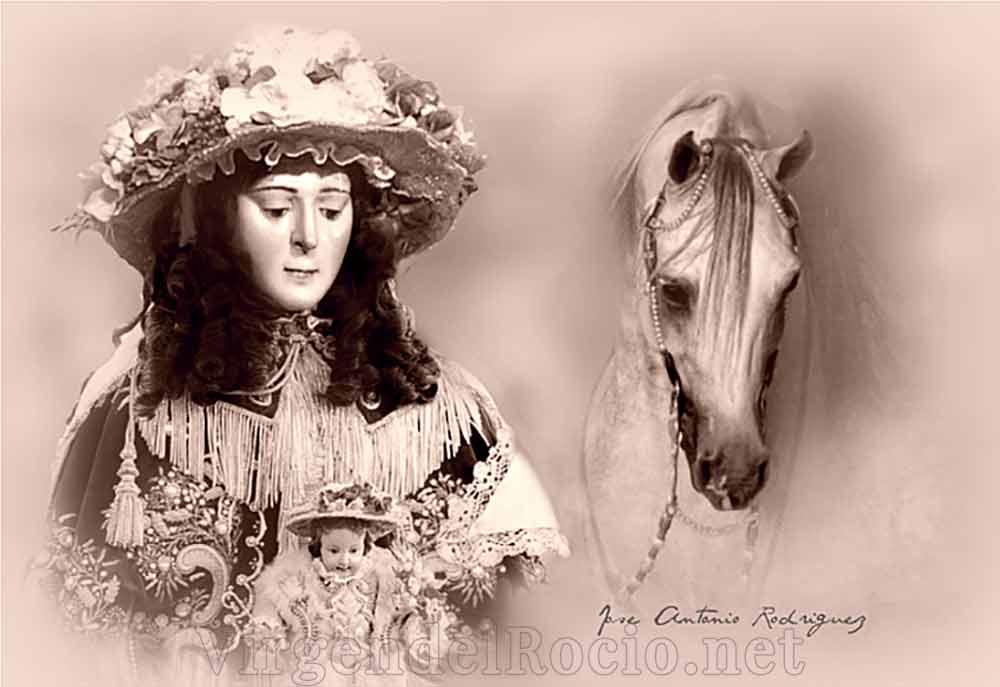 Virgen del Rocío y caballo