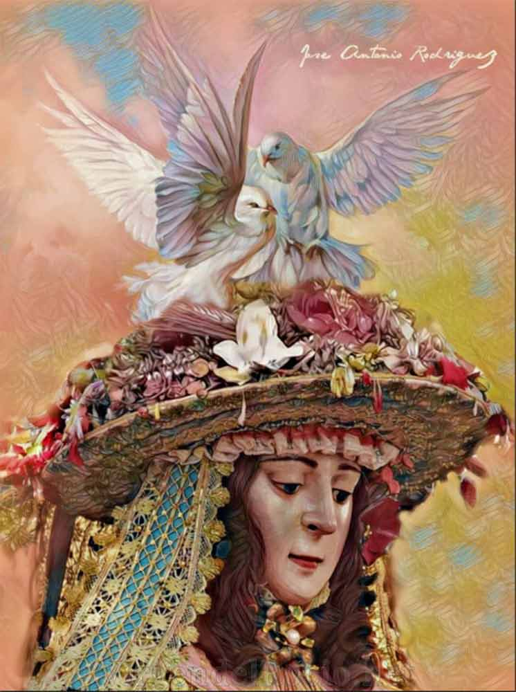 Virgen del Rocío con paloma