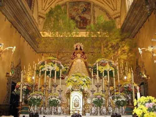 Virgen-del-Rocío de pastora en Almonte