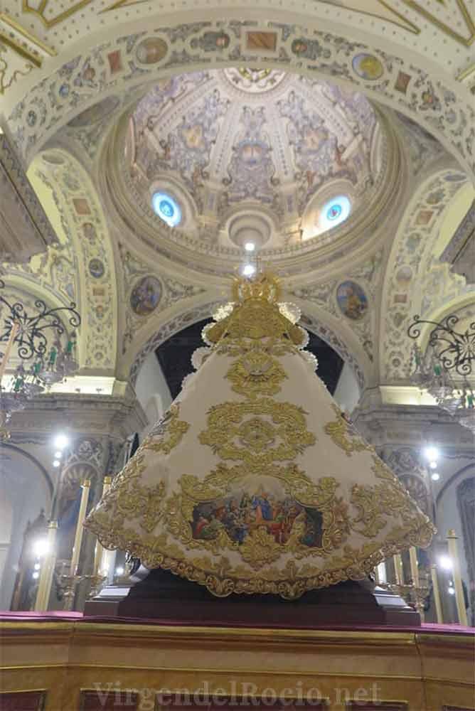 Manto Virgen del Rocío blanco