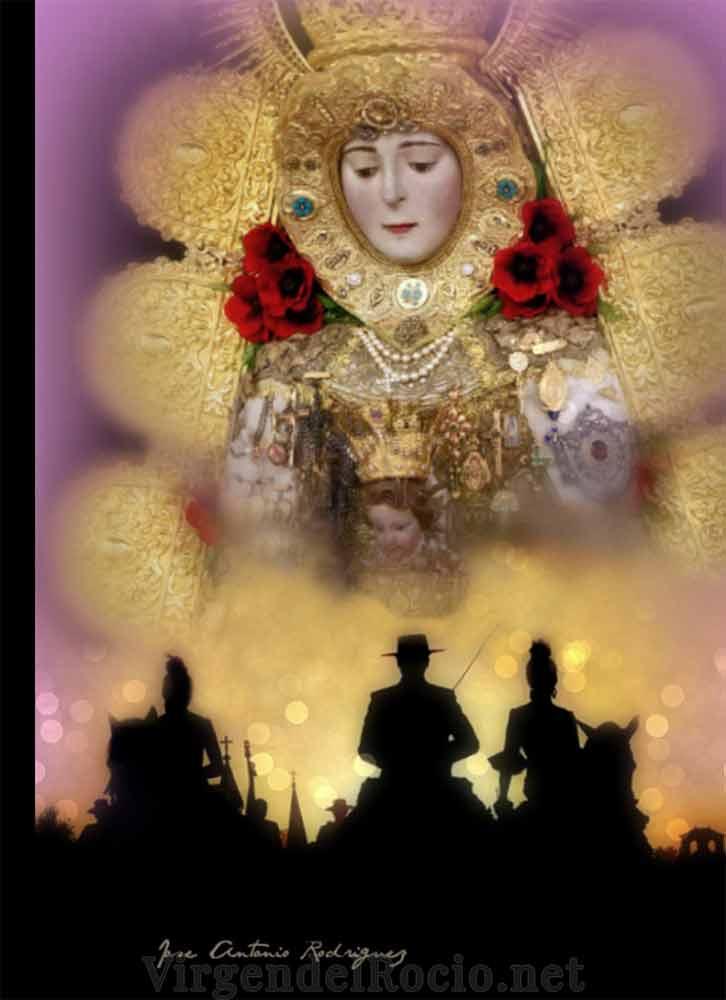 Caballos camino Virgen del Rocío