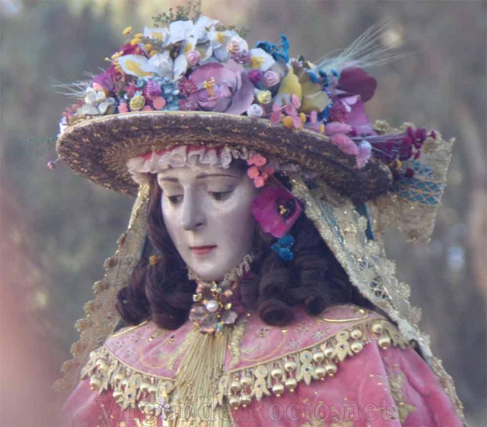 Cara Virgen del Rocío de pastora