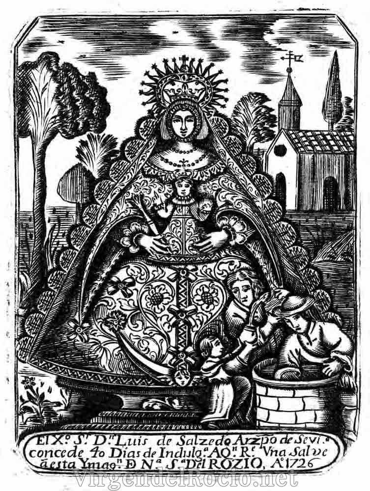 Virgen-del-Rocio-grabado-litografia