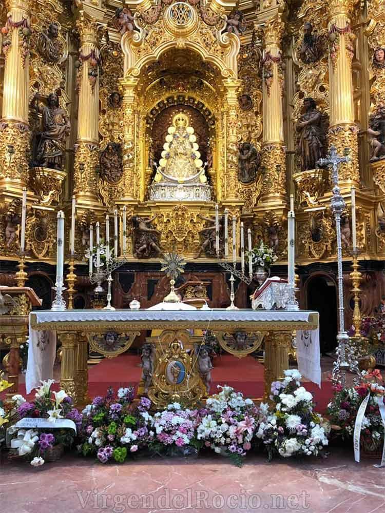 Retablo altar Virgen del Rocío