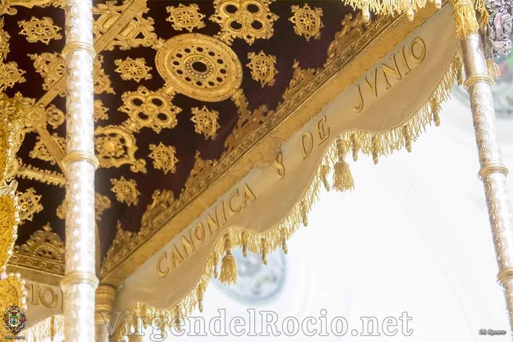 Andas Virgen del Rocio techo