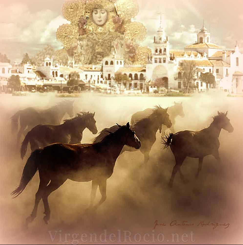caballos Virgen del Rocío