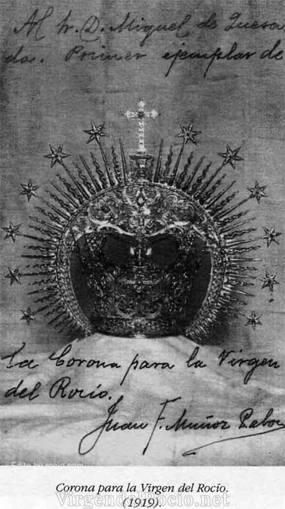 Corona coronación Virgen del Rocío