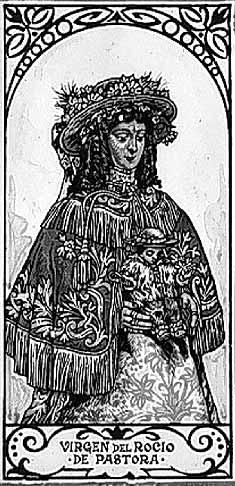 dibujo-Virgen-del-Rocio-de-pastora