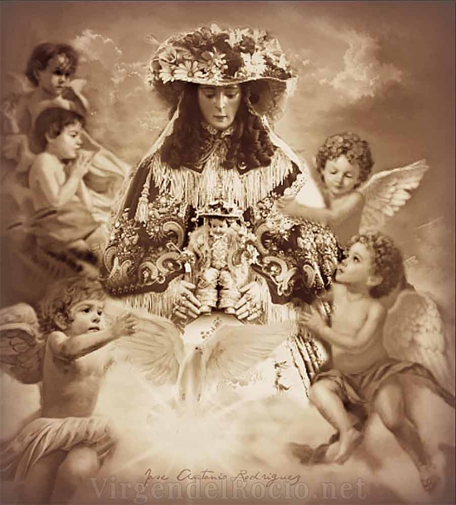 Virgen del Rocío de pastora