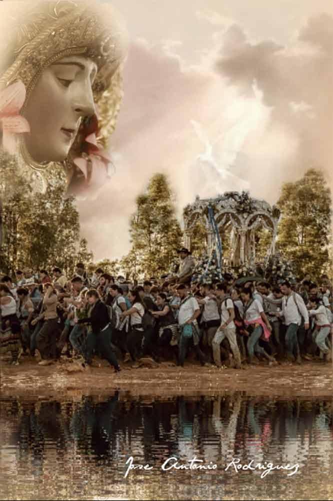 Hermandades filiales Virgen del Rocío estampa