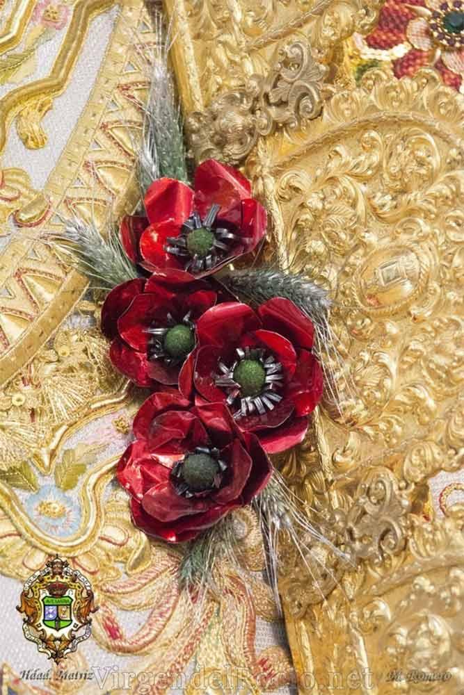 Flores rafaga Virgen del Rocío