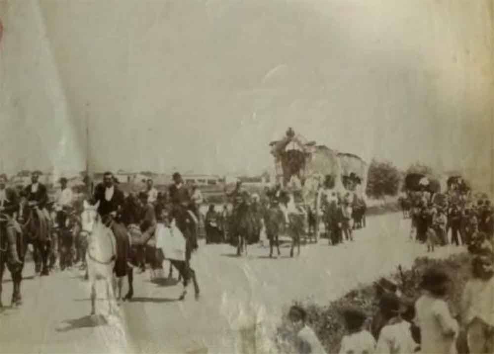Fotografía camino romería Virgen del Rocío mas antigua