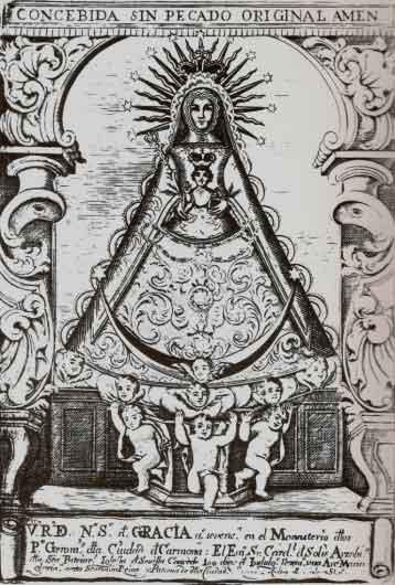 grabado Virgen del Rocío-antiguo