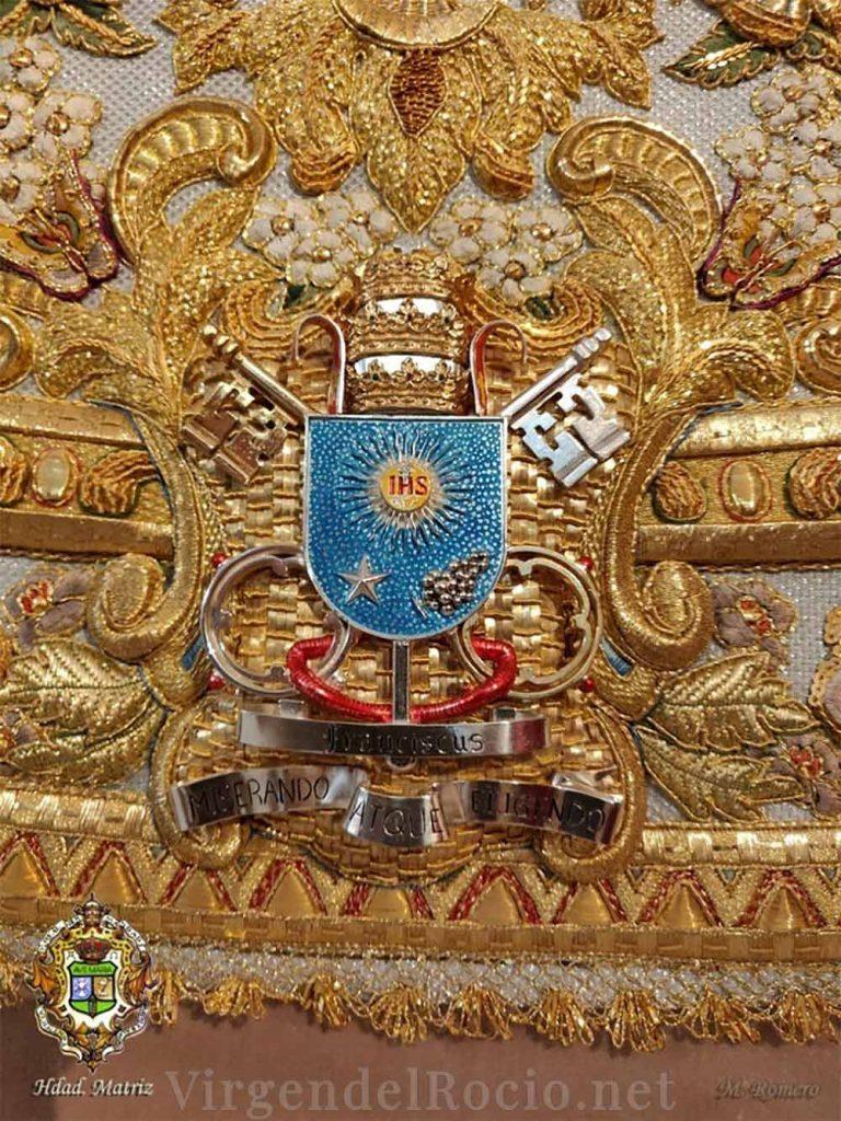Detalle manto Virgen del Rocío