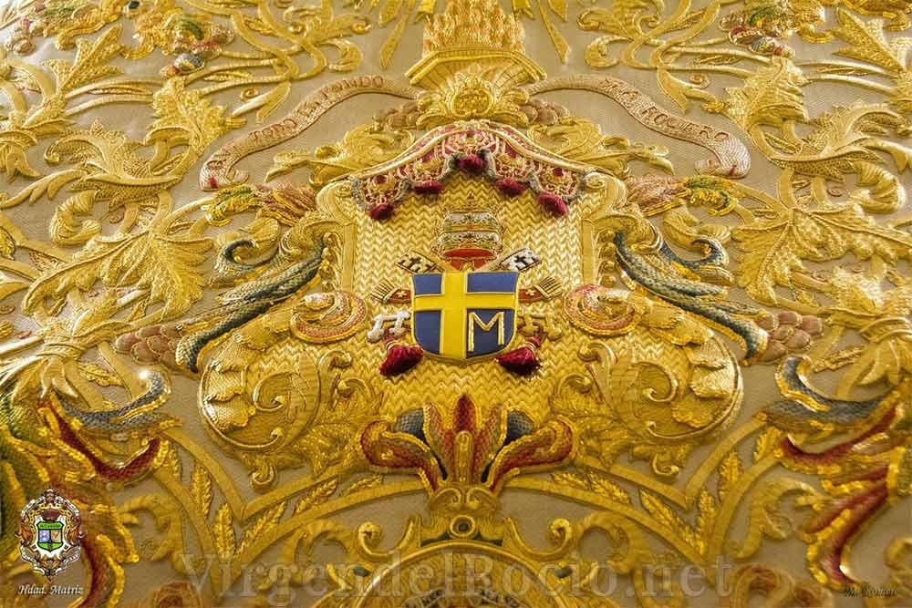 Manto Virgen del Rocío centenario detalle