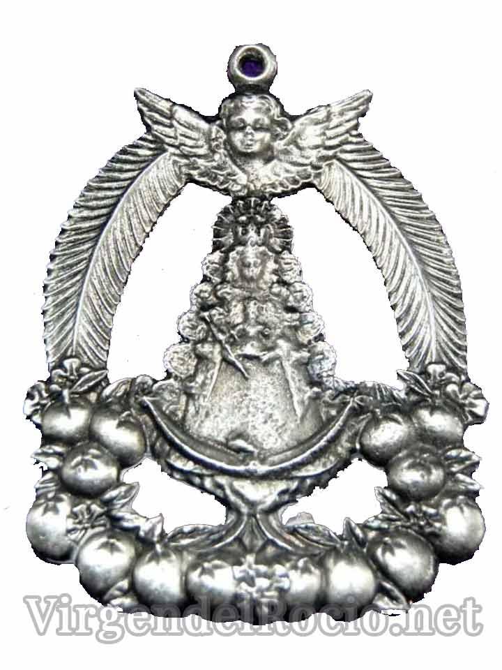Medalla Virgen del Rocío con angel