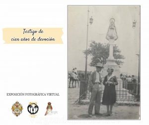 Monumento a la Virgen de Rocío en Almonte foto antigua