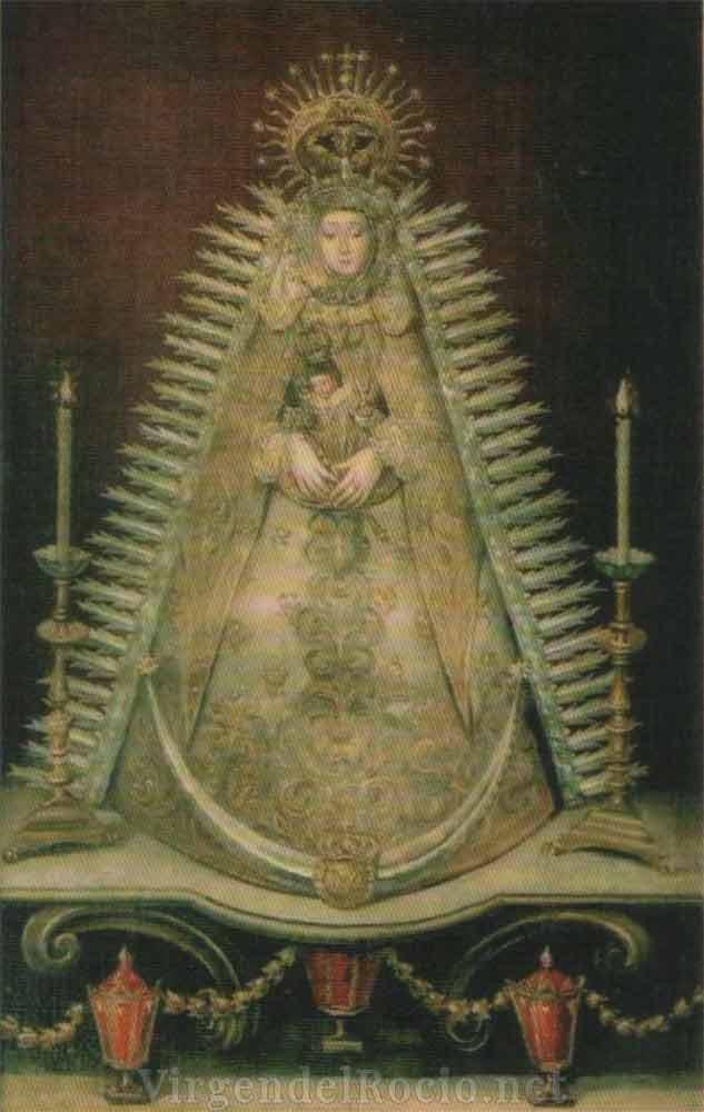 Pintura Virgen del Rocío-1880 familia Cepeda