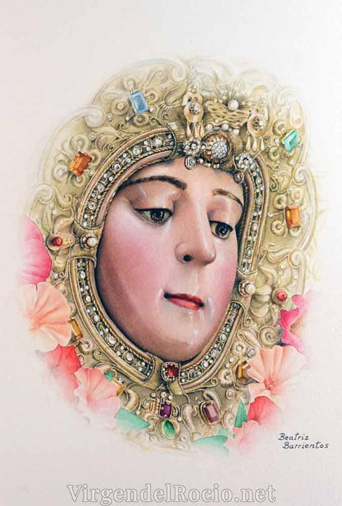 Pintura Virgen Rocío