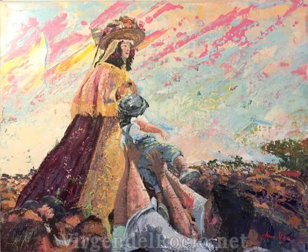 Pintura Virgen Rocío Ana Feu