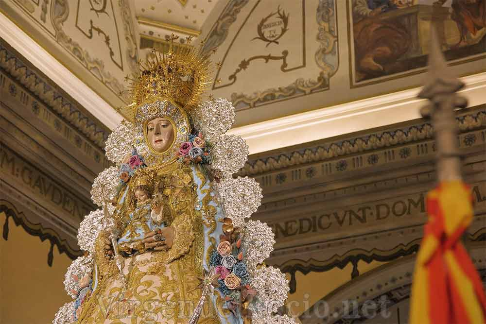 Rafagas plata Virgen del Rocío
