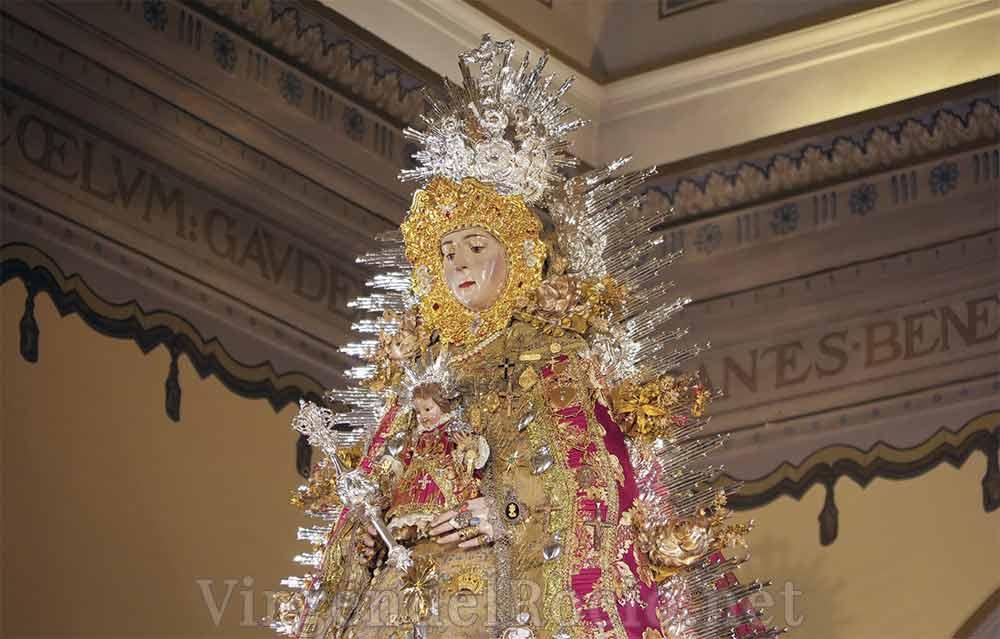 resplandor plata Virgen del Rocío