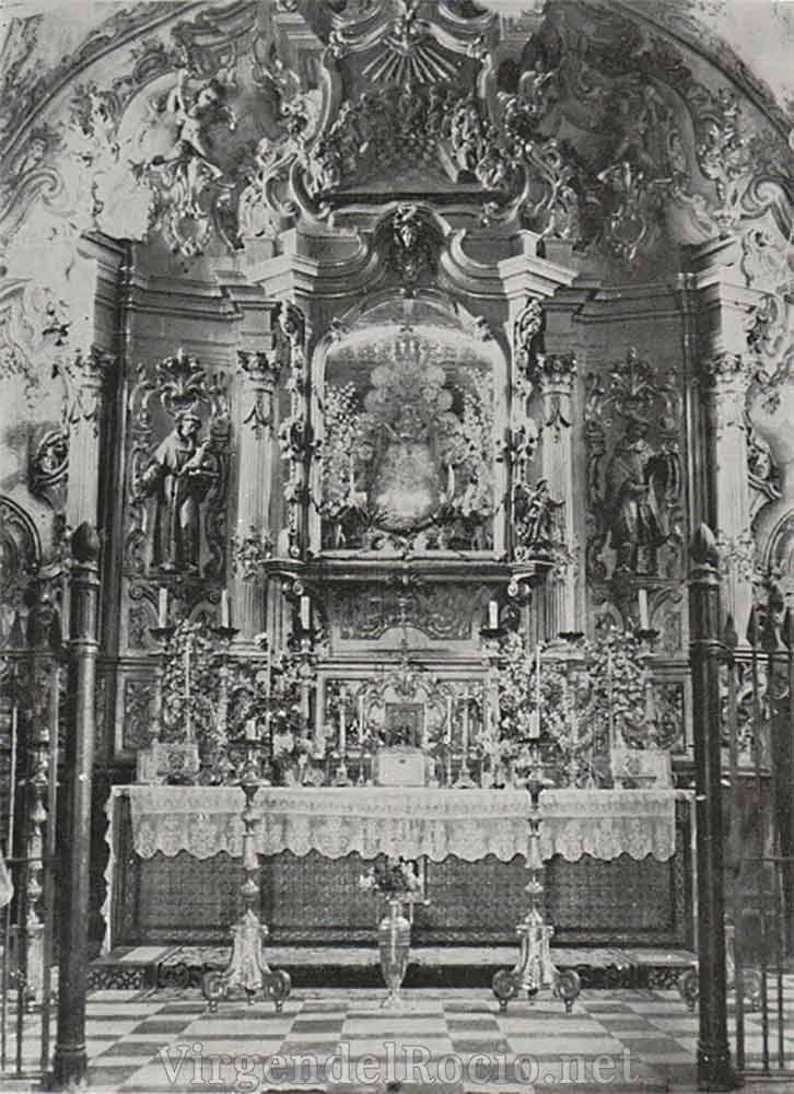Retablo antigua ermita Virgen del Rocío