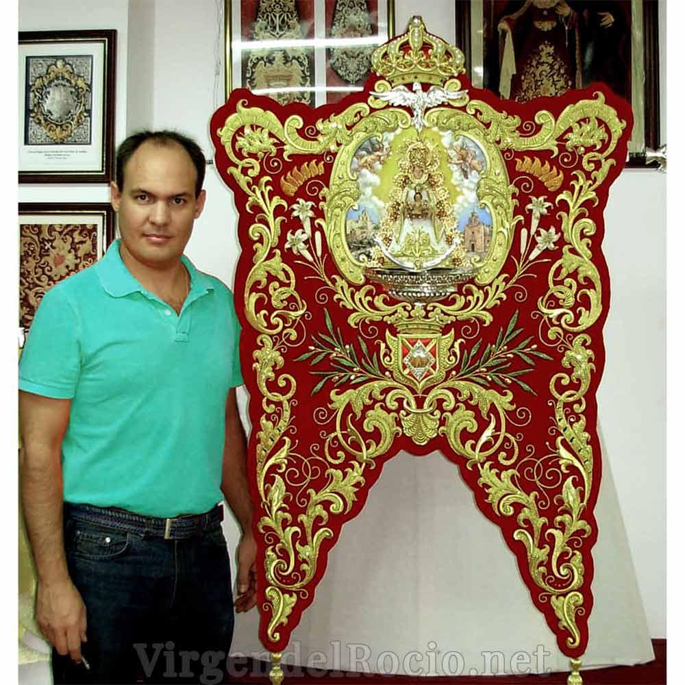 Simpecado bordado Pedro Palenciano