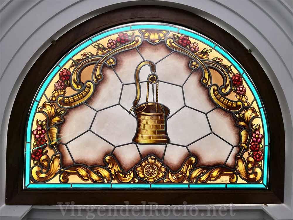 Vidriera ermita Virgen del Rocío