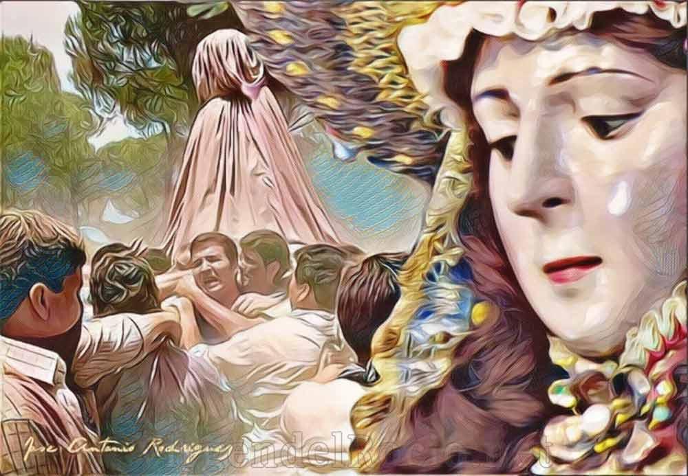 Virgen del Rocío tapada