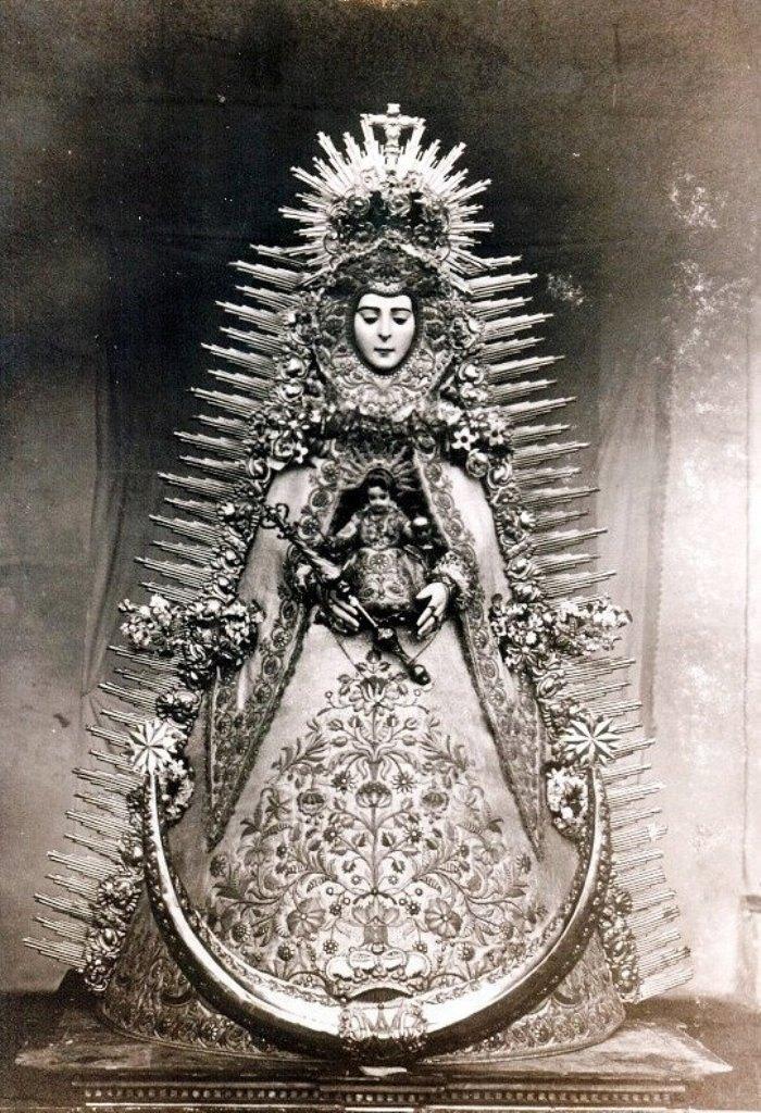 Virgen del Rocío antigua rafaga