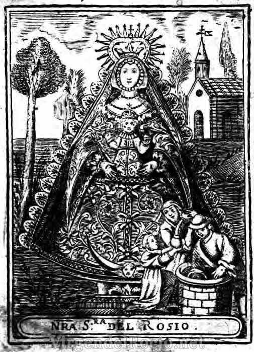 virgen-del-rocio-grabado-litografia-antigua